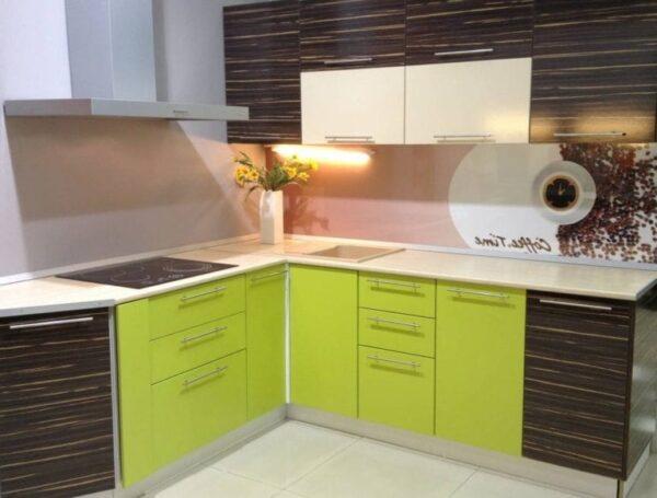 Кухня МДФ 12 — зеленый