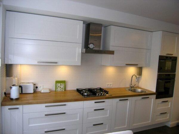 Кухня МДФ 15 — белый матовый