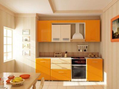 Кухня МДФ 03 — серый глянец